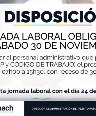 DISPOSICIÓN JORNADA LABORAL