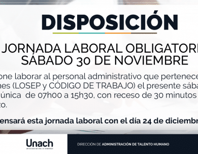 DISPOSICIÓN JORNADA LABORAL