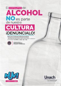 EL ALCOHOL no es parte de nuestra cultura ! DENÚNCIALO ¡