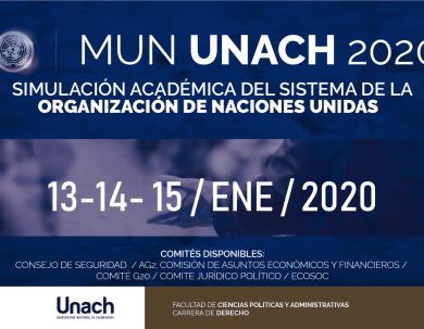PARTICIPA EN EL MODELO DE NACIONES UNIDAS MUN UNACH 2020