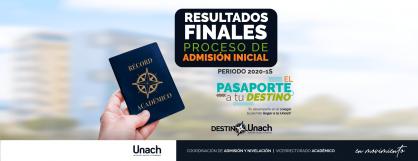 RESULTADOS FINALES PROCESO DE ADMISIÓN INICIAL 2020 1-S