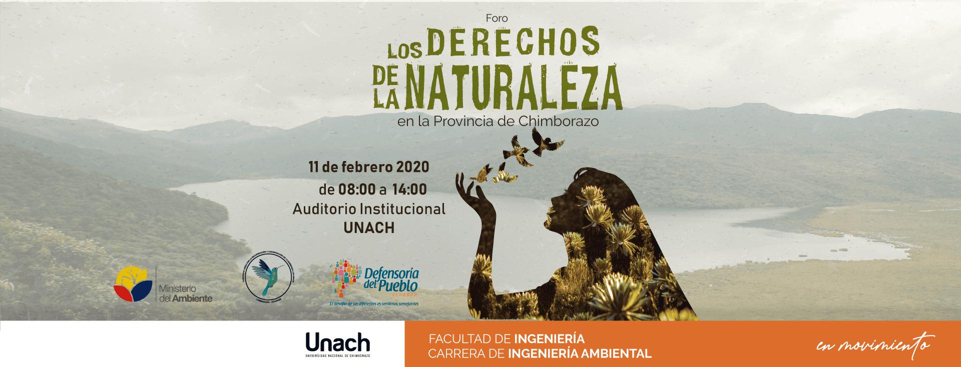 FORO LOS DERECHOS DE LA NARURALEZA EN LA PROVINCIA DE CHIMBORAZO