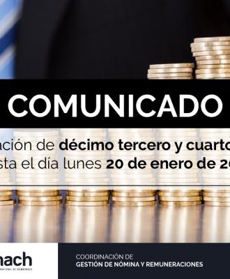SOLICITUD DE ACUMULACIÓN DE DÉCIMO TERCER Y CUARTO SUELDO