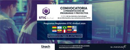 CONVOCATORIA A PRESENTACIÓN DE PROGRAMAS Y PROYECTOS STIC-AMSUD 2020