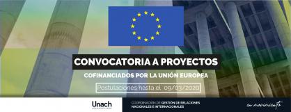CONVOCATORIA A PRESENTACIÓN DE PROYECTOS CO-FINANCIADOS POR LA UNIÓN EUROPEA