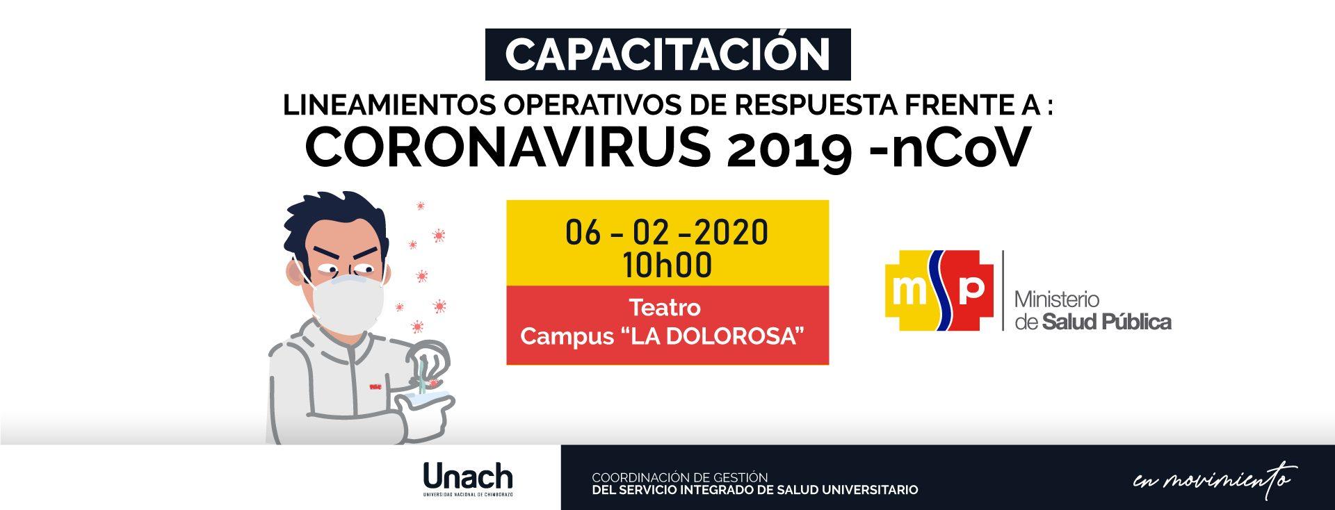 LINEAMIENTOS OPERATIVOS DE RESPUESTA FRENTE A : CORONAVIRUS 2019 -nCoV