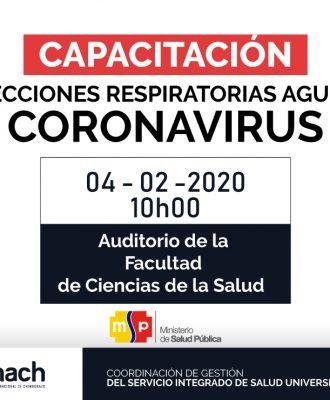 """CAPACITACIÓN INFECCIONES RESPIRATORIAS AGUDAS """"CORONAVIRUS"""""""