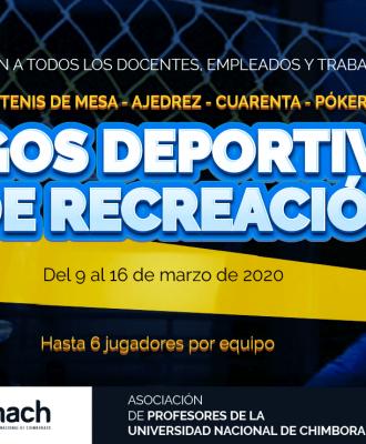 JUEGOS DEPORTIVOS Y RECREACIONALES