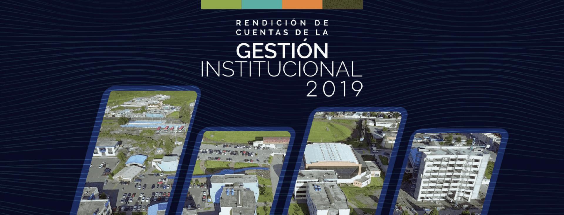 Rendición de Cuentas de la Gestión Institucional del 2019