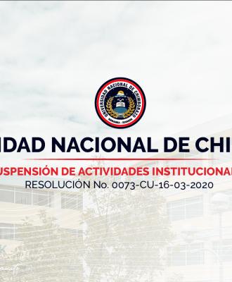 SUSPENSIÓN DE ACTIVIDADES INSTITUCIONALES