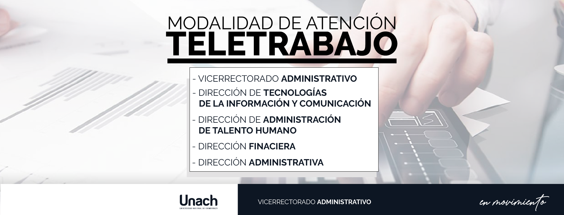 MODALIDAD DE ATENCIÓN TELETRABAJO
