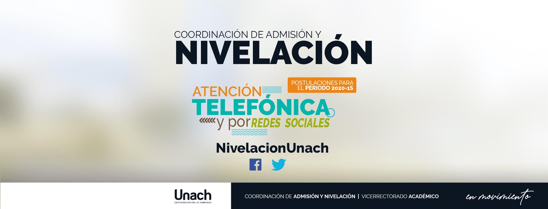 ATENCIÓN TELEFÓNICA PARA POSTULACIONES