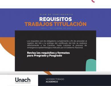 REQUISITOS TRABAJOS DE TITULACIÓN