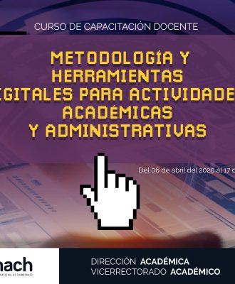 CURSO METODOLOGÍA Y HERRAMIENTAS DIGITALES PARA ACTIVIDADES ACADÉMICAS Y ADMINISTRATIVAS