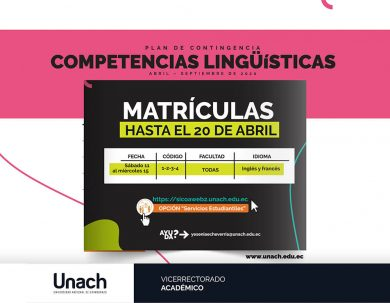 CRONOGRAMA DE MATRÍCULAS COMPETENCIAS LINGÜÍSTICAS DENTRO DEL PLAN DE CONTINGENCIA