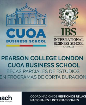 BECAS PARCIALES DE ESTUDIOS EN PROGRAMAS DE CORTA DURACIÓN EN PEARSON COLLEGE LONDON Y CUOA BUSINESS SCHOOL