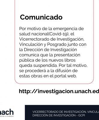 SUSPENSIÓN DE PRESENTACIÓN PÚBLICA DE NUEVOS LIBROS