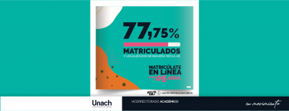 77,75%   DE ESTUDIANTES MATRICULADOS