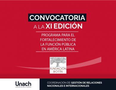 CONVOCATORIA A LA XI EDICIÓN DEL PROGRAMA PARA EL FORTALECIMIENTO DE LA FUNCIÓN PÚBLICA EN AMERICA LATINA DE LA FUNDACIÓN BOTÍN