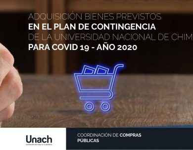 ADQUISICIÓN BIENES PREVISTOS EN EL PLAN DE CONTINGENCIA DE LA UNIVERSIDAD NACIONAL DE CHIMBORAZO PARA COVID 19 - AÑO 2020