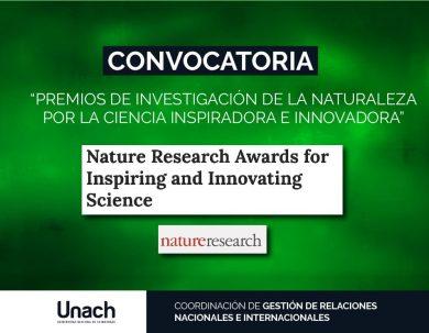 """CONVOCATORIA """"PREMIOS DE INVESTIGACIÓN DE LA NATURALEZA POR LA CIENCIA INSPIRADORA E INNOVADORA"""""""