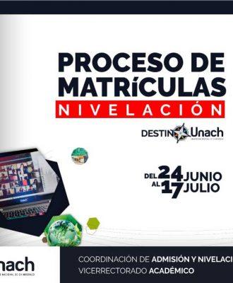 PROCESO DE MATRÍCULAS PARA NIVELACIÓN