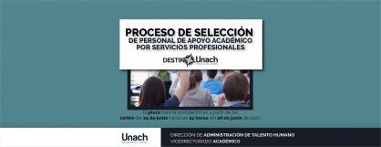PROCESO DE SELECCIÓN  DE PERSONAL DE APOYO ACADÉMICO  POR SERVICIOS PROFESIONALES