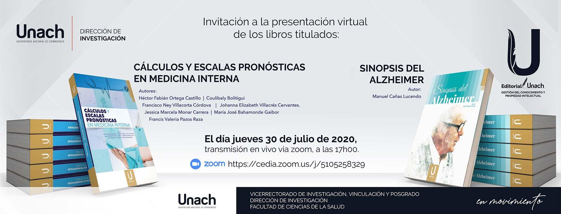PRESENTACIÓN VIRTUAL DE LIBROS