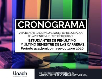 CRONOGRAMA PRUEBAS RAE 2020