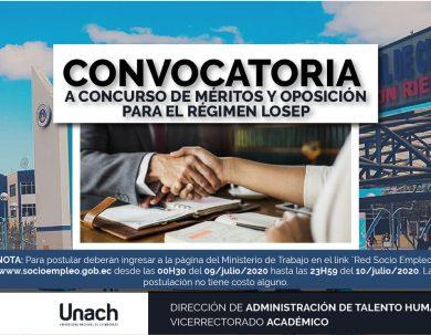 CONVOCATORIA  A CONCURSO DE MÉRITOS Y OPOSICIÓN PARA EL RÉGIMEN LOSEP