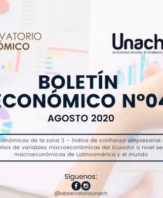 El Observatorio Económico de la Unach presentó el Boletín Económico No 4