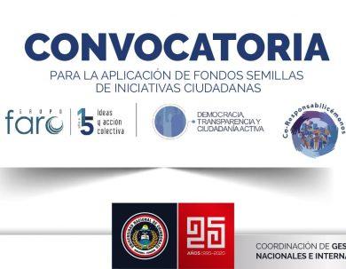 CONVOCATORIA PARA LA APLICACIÓN DE FONDOS SEMILLAS DE INICIATIVAS CIUDADANAS