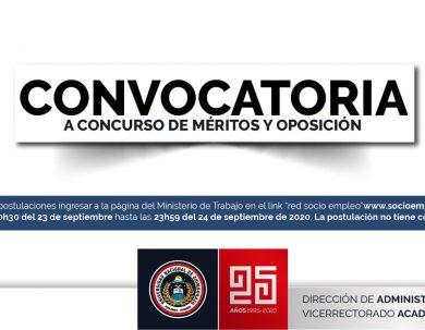 CONVOCATORIA CONCURSO DE MÉRITOS Y OPOSICIÓN