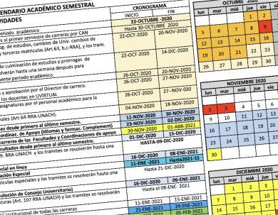 Se aprobó el calendario académico para el próximo periodo