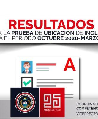 RESULTADOS DE LAS PRUEBAS DE UBICACIÓN