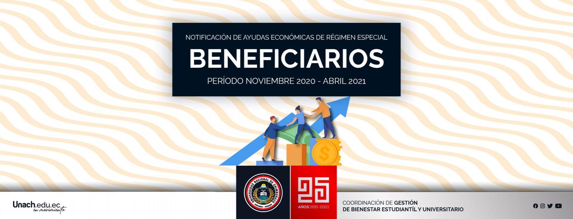 NOTIFICACIÓN DE AYUDAS ECONOMICAS DE REGIMEN ESPECIAL NOVIEMBRE 2020-ABRIL 2021