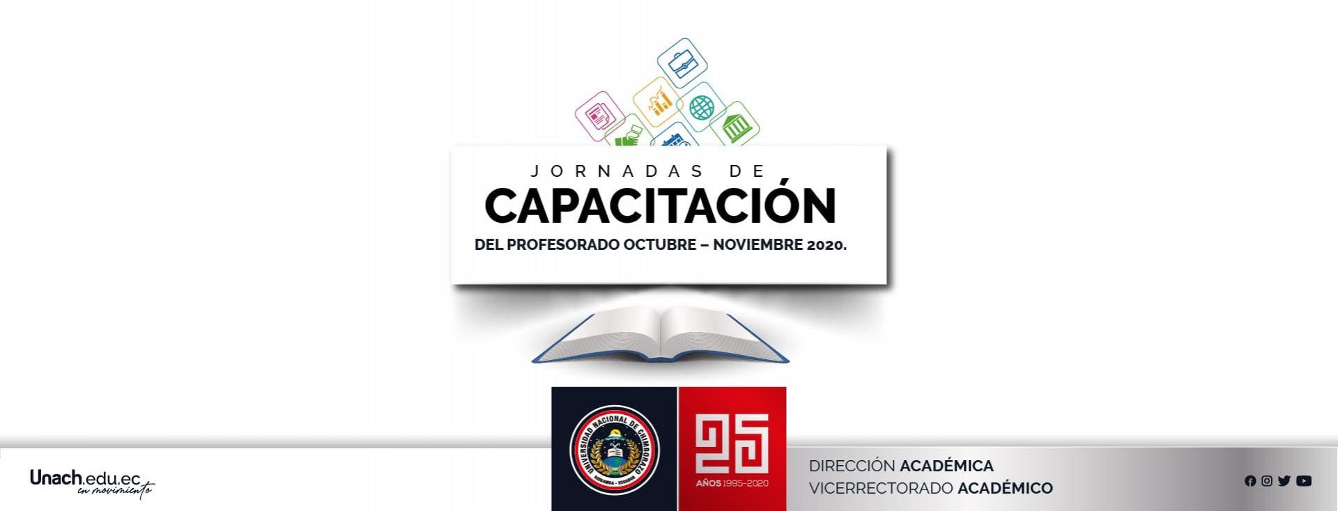 JORNADAS DE CAPACITACIÓN DEL PROFESORADO OCTUBRE – NOVIEMBRE 2020.
