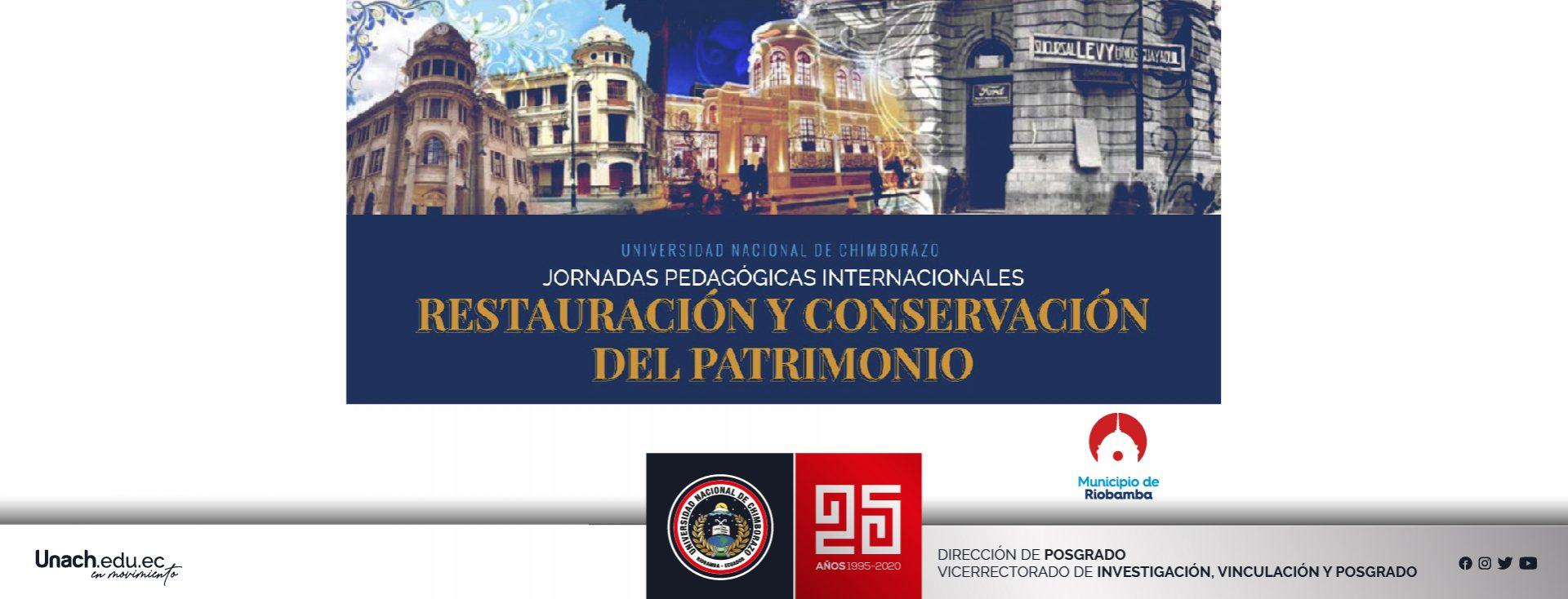 JORNADAS PEDAGÓGICAS INTERNACIONALES SOBRE RESTAURACIÓN Y CONSERVACIÓN DEL PATRIMONIO