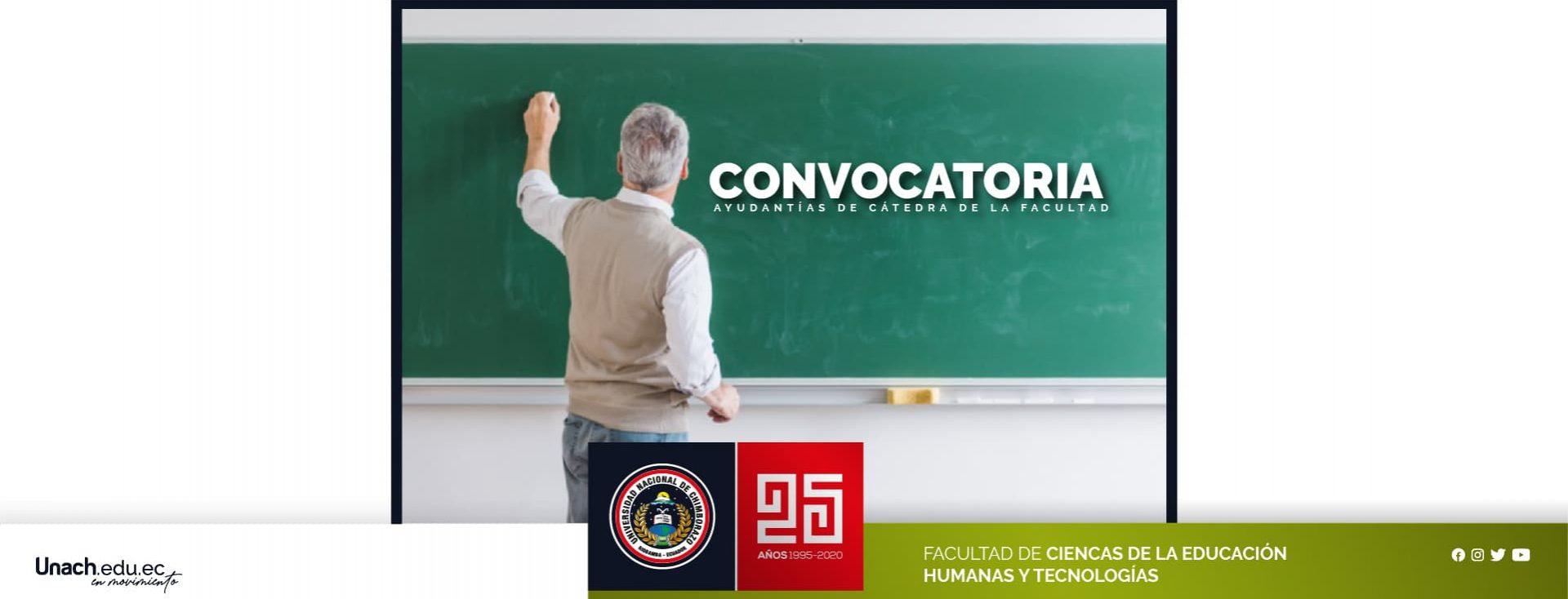 CONVOCATORIA AYUDANTÍAS DE CÁTEDRA DE LA FACULTAD