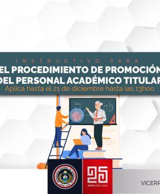 INSTRUCTIVO PARA EL PROCEDIMIENTO DE PROMOCIÓN DEL PERSONAL ACADÉMICO TITULAR