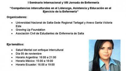 Participamos en el I Seminario Internacional y VIII Jornada de Enfermería