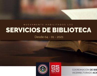 SERVICIOS DE LA COORDINACIÓN DE BIBLIOTECA
