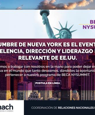 CONVOCATORIA BECA NEW YORK SUMMIT 2019