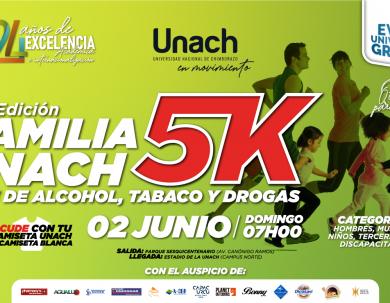 SEGUNDA EDICIÓN CARRERA FAMILIAR 5K LIBRE DE ALCOHOL, TABACO Y DROGAS