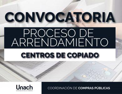 CONVOCATORIA PARA EL PROCESO DE  ARRENDAMIENTO DE LOS CENTROS DE COPIADO DE LAS FACULTADES DE INGENIERÍA Y CIENCIAS POLÍTICAS Y ADMINISTRATIVAS
