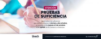 PRUEBAS DE SUFICIENCIA