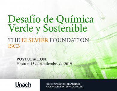 DESAFÍO DE QUÍMICA VERDE Y SOSTENIBLE ELSEVIER FOUNDATION-ISC3