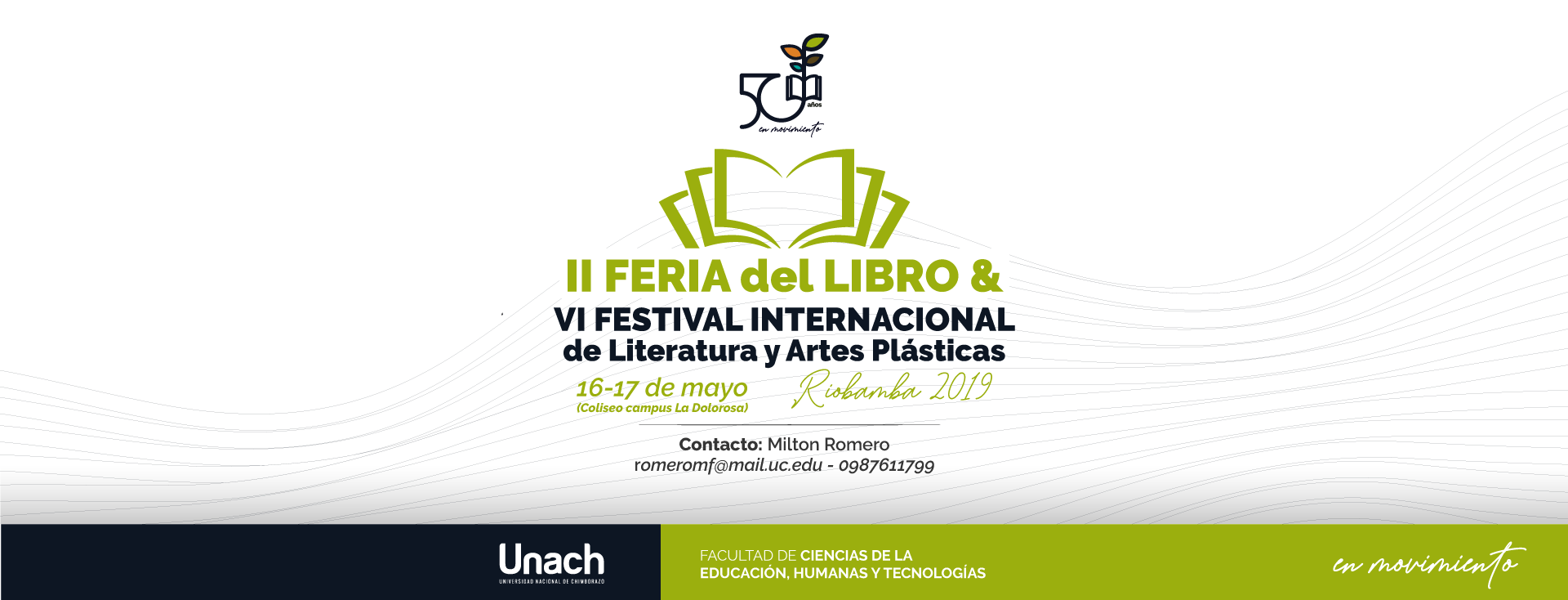 II FERIA DEL LIBRO & VI FESTIVAL INTERNACIONAL DE LITERATURA Y ARTES PLÁSTICAS RIOBAMBA 2019