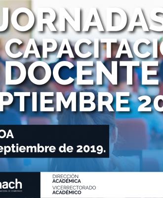 JORNADAS DE CAPACITACIÓN DOCENTE SEPTIEMBRE 2019