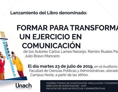 LANZAMIENTO DEL LIBRO: FORMAR PARA TRANSFORMAR UN EJERCICIO EN COMUNICACIÓN
